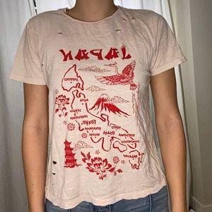 Distressed pink t-shirt